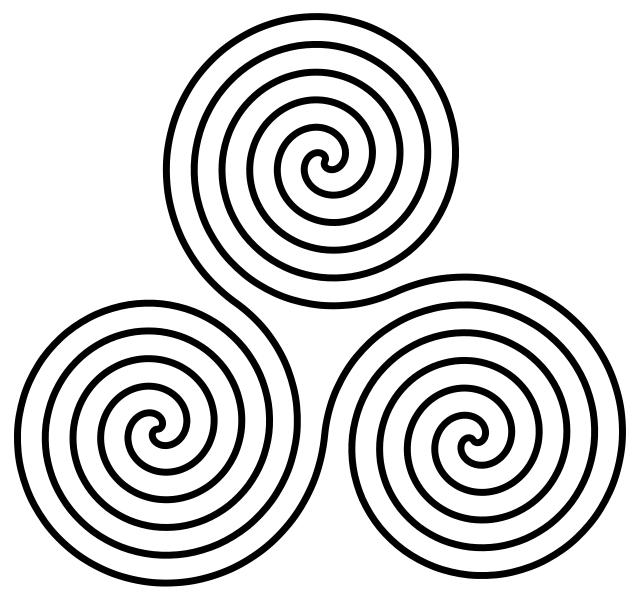 Neolithic triple spiral motif